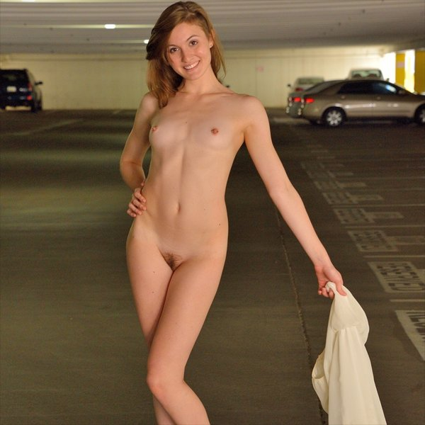 image Public garage girl almost gets caught masturbating in car
